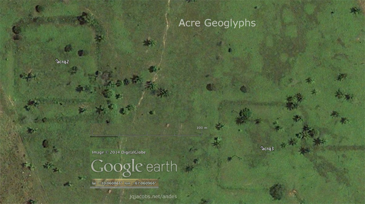Acre geoglyphs aerial image