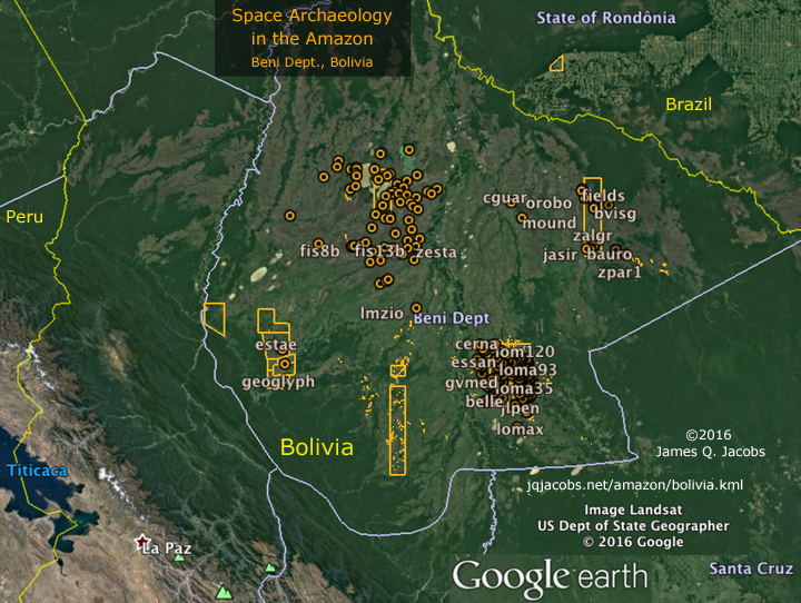 Space Archaeology in the Amazon, Beni, Bolivia