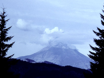 Mt. St. Helens erupting on April 3, 1980.