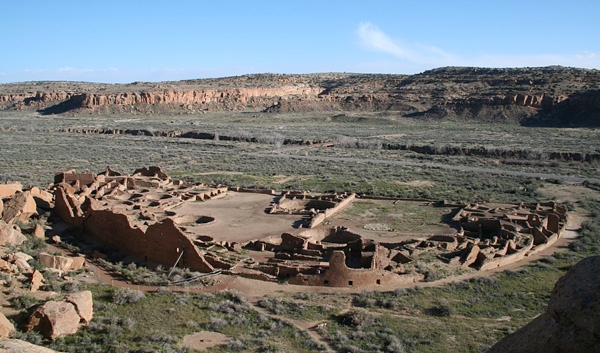 View of Pueblo Bonito, Chaco Canyon, New Mexico